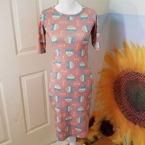 LuLaRoe Southwestern Short Sleeve Midi Dress